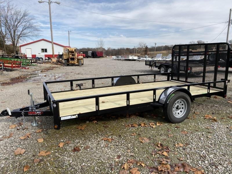 2020 Heartland 82X14 SINGLE AXLE Utility Trailer