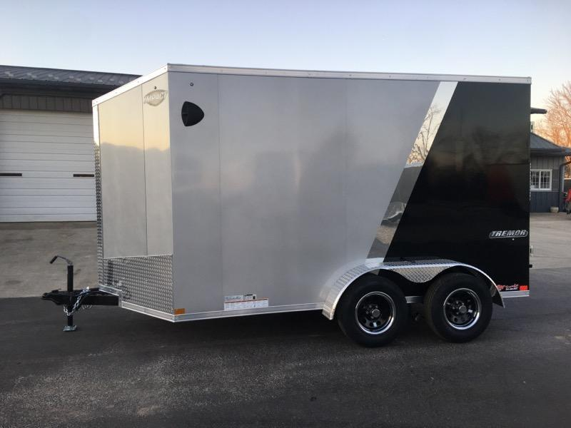 2021 Impact Trailers 7X12 IMPACT TREMOR SILVER/BLACK Enclosed Cargo Trailer