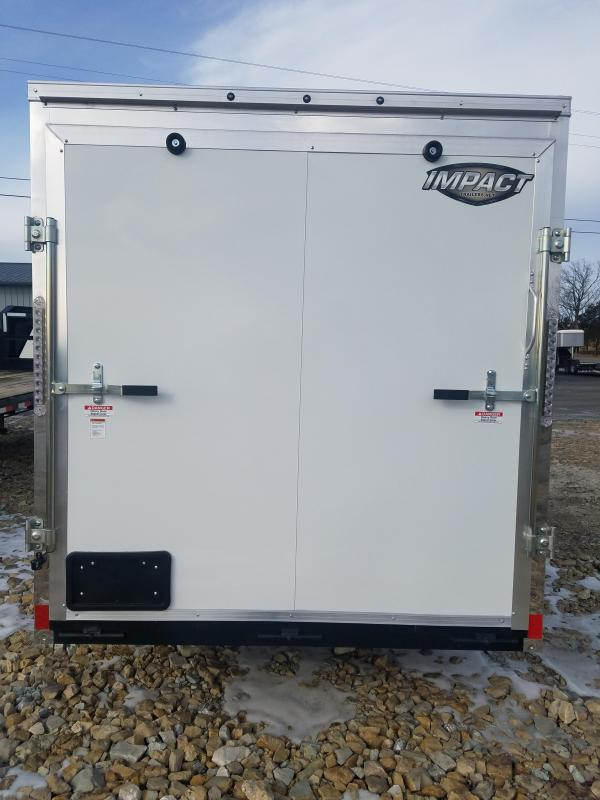 2020 Impact Trailers 6X12 IMPACT SHOCKWAVE CARGO WHITE W/ ALUM WHEELS Enclosed Cargo Trailer