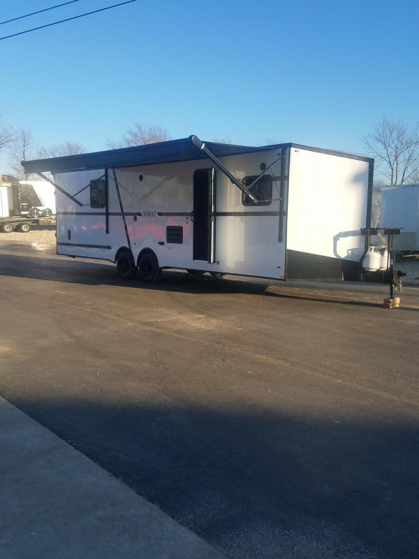 2020 Stealth Trailers 8.5X30 QB STEALTH NOMAD WHITE Car / Racing Trailer