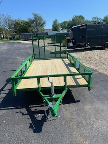 2019 Heartland 76X12 HEARTLAND 4 REAR GATE 3 KGVW GREEN Utility Trailer