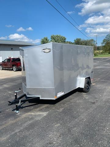 2020 Impact Trailers 6X12 IMPACT QUAKE REAR RAMP DOOR SIDE DOOR SILVER Enclosed Cargo Trailer