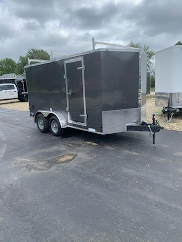 2020 Continental Cargo 7X14 CONTINENTAL CARGO BARN DOOR GRAY Enclosed Cargo Trailer