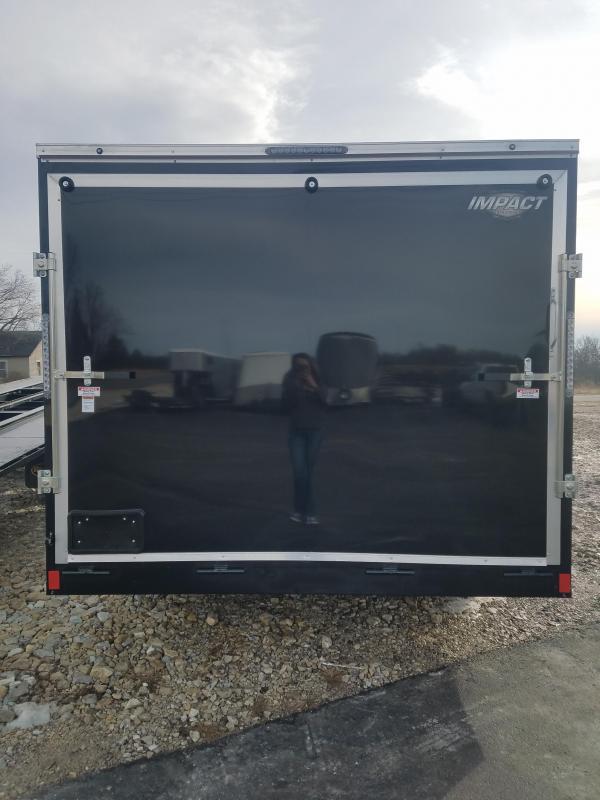 2020 Impact Trailers 8.5X16 IMPACT TREMOR CARGO SCREW LESS BLACK Enclosed Cargo Trailer
