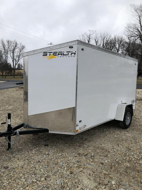 2020 Stealth Trailers 6X12 STEALTH MUSTANG CARGO WHITE Enclosed Cargo Trailer