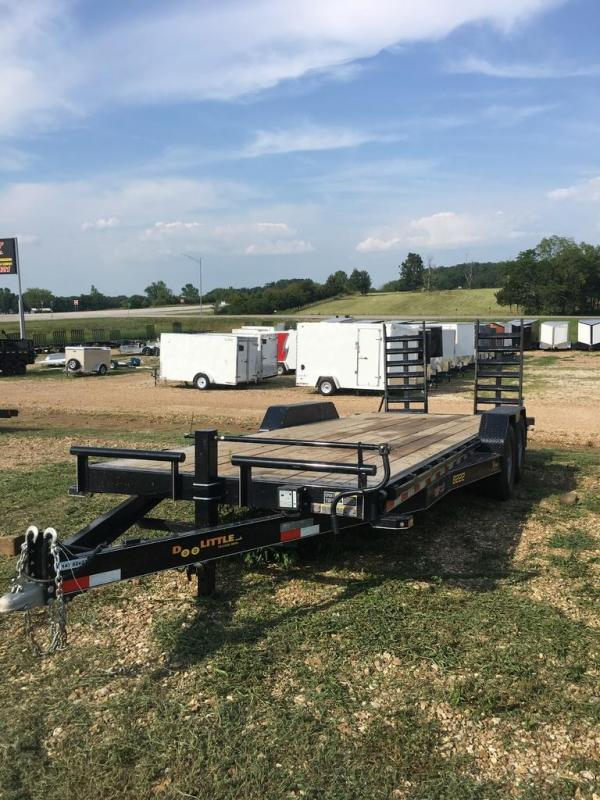 2019 Doolittle Trailer Mfg 83x22 DOOLITTLE STAND UP RAMPS 2FT DOVE BLACK Equipment Trailer