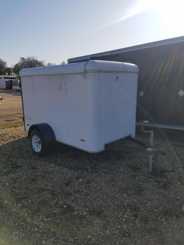 2000 Pace American 5X8 PACE CARGO SINGLE REAR DOOR WHITE Enclosed Cargo Trailer