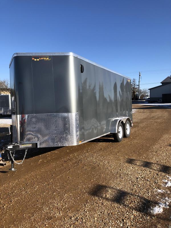 2020 Doolittle Trailer Mfg 7X16 DOOLITTLE CARGO 7K TORSION AXLE GRAY Enclosed Cargo Trailer