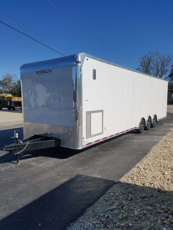 2020 Stealth Trailers 8.5X32 STEALTH TITAN 15K GVW RUBBER COIN FLOORING Car / Racing Trailer