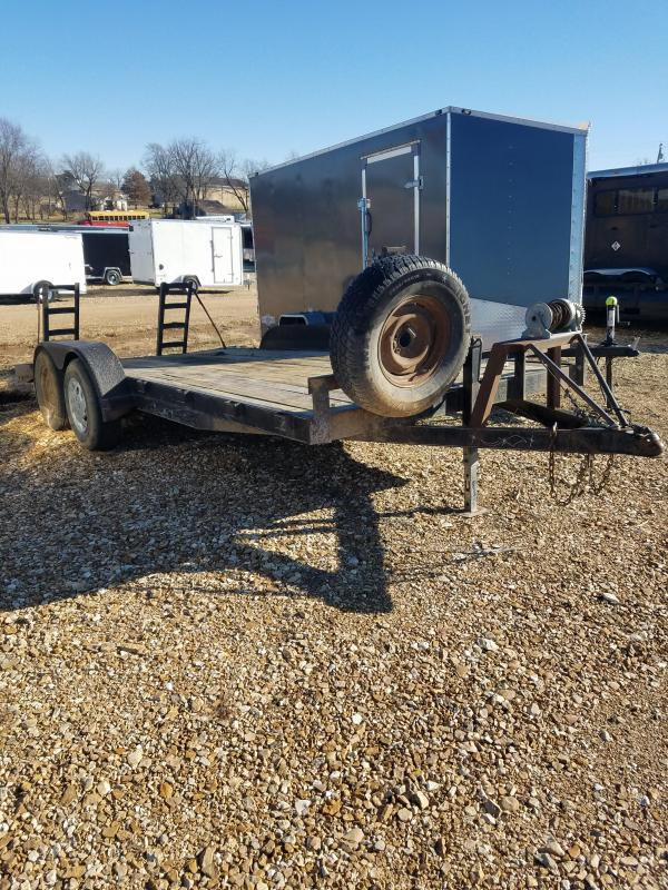 2002 Other 82X18 C&H CAR TRAILER 7K GVW 2' DOVE WINCH Flatbed Trailer