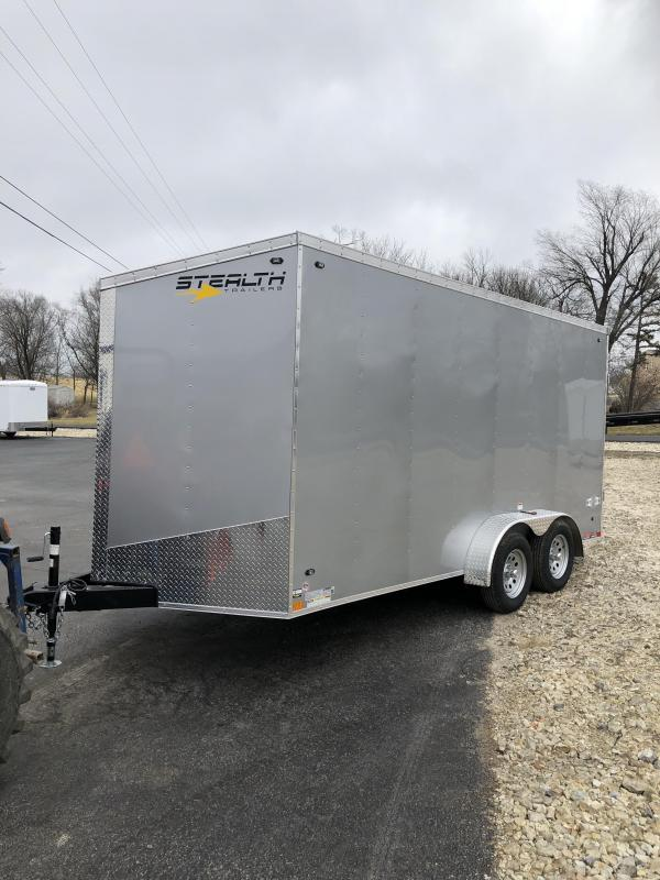 2020 Stealth Trailers 7X16 STEALTH MUSTANG SILVER Enclosed Cargo Trailer