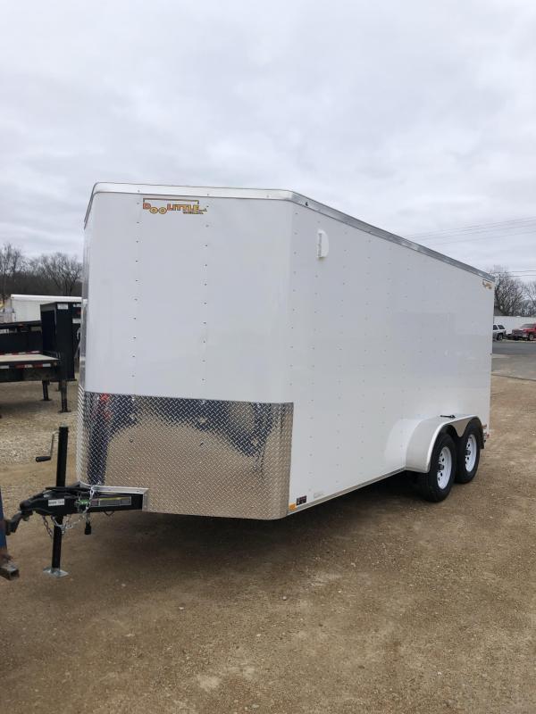 2020 Doolittle Trailer Mfg 7X16 DOOLITTLE CARGO WHITE Enclosed Cargo Trailer