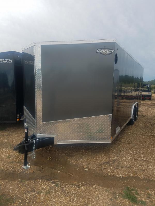 2020 Impact Trailers 8.5X20 IMPACT 10GVW REAR RAMP DOOR W/ EXT Enclosed Cargo Trailer