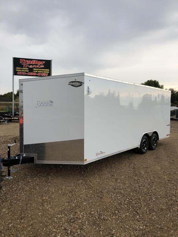 2020 Impact Trailers 8.5X20 IMPACT SHOCKWAVE 7K GVW REAR RAMP D RINGS Enclosed Cargo Trailer