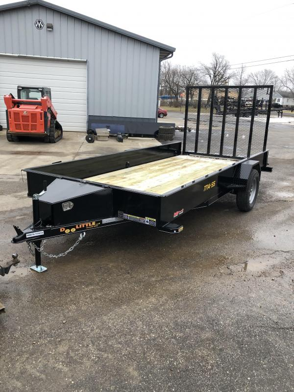 2020 Doolittle Trailer Mfg 77X14 DOOLITTLE SOLID SIDE Utility Trailer
