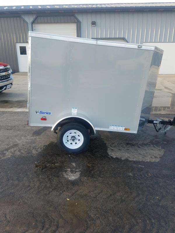 2020 Continental Cargo 4X6 CONTINENTAL CARGO DOVE GRAY Enclosed Cargo Trailer