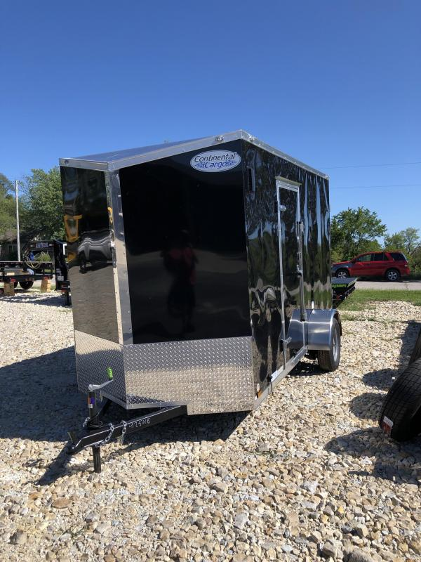 "2020 Continental Cargo 6X12 CC 3K GVW SIDE DOOR ON DRIVERS SIDE 84"" H Enclosed Cargo Trailer"