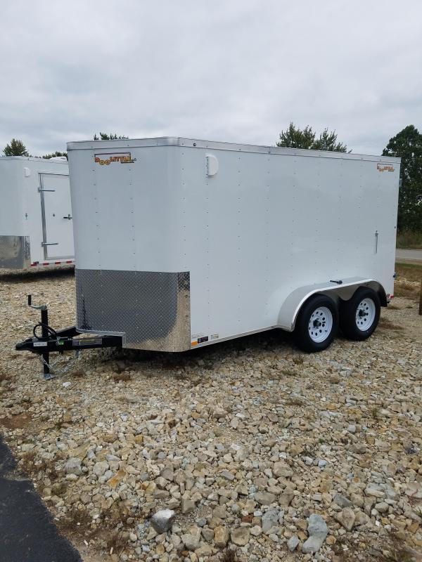 2020 Doolittle Trailer Mfg 6X12 DOOLITTLE CARGO 7K GVW BARN DOORS WHITE Enclosed Cargo Trailer
