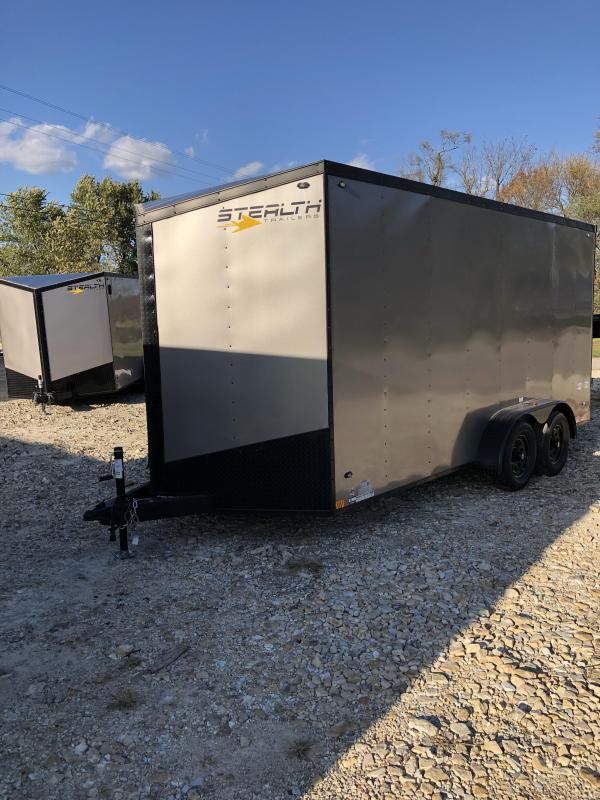 2020 Stealth Trailers 7X16 STEALTH MUSTANG 7K GVW V-NOSE 7 INTERIOR Enclosed Cargo Trailer