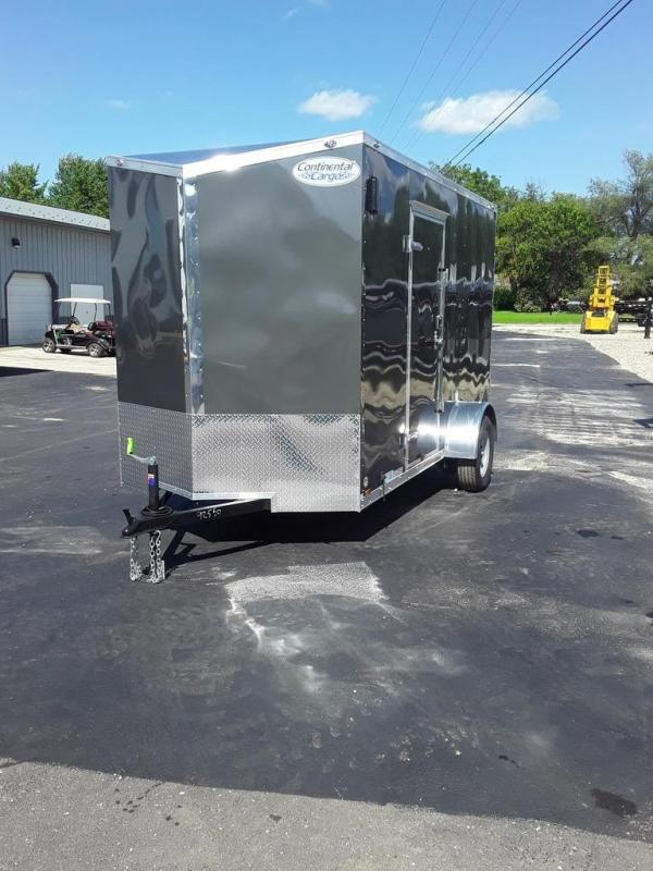 2020 Continental Cargo 6X12 CC 3K GVW REAR RAMP SIDE DOOR ON DRIVERS SID Enclosed Cargo Trailer