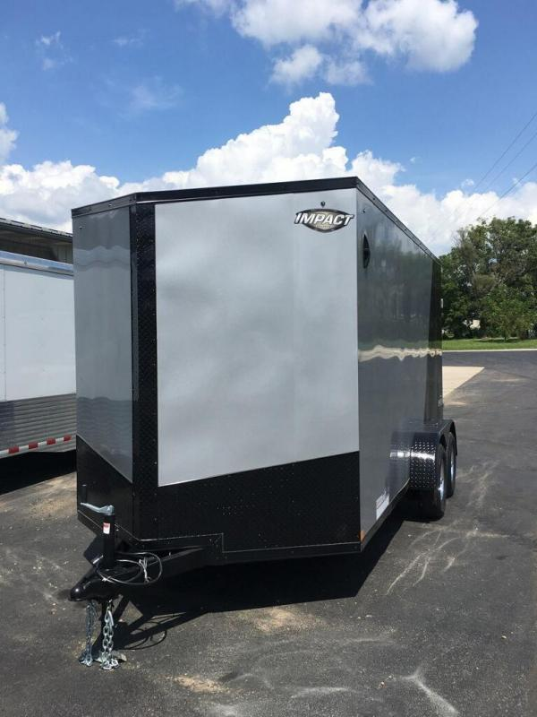 2020 Impact Trailers 7X14 IMPACT TREMOR CARGO REAR RAMP TAPED SEAMS Enclosed Cargo Trailer