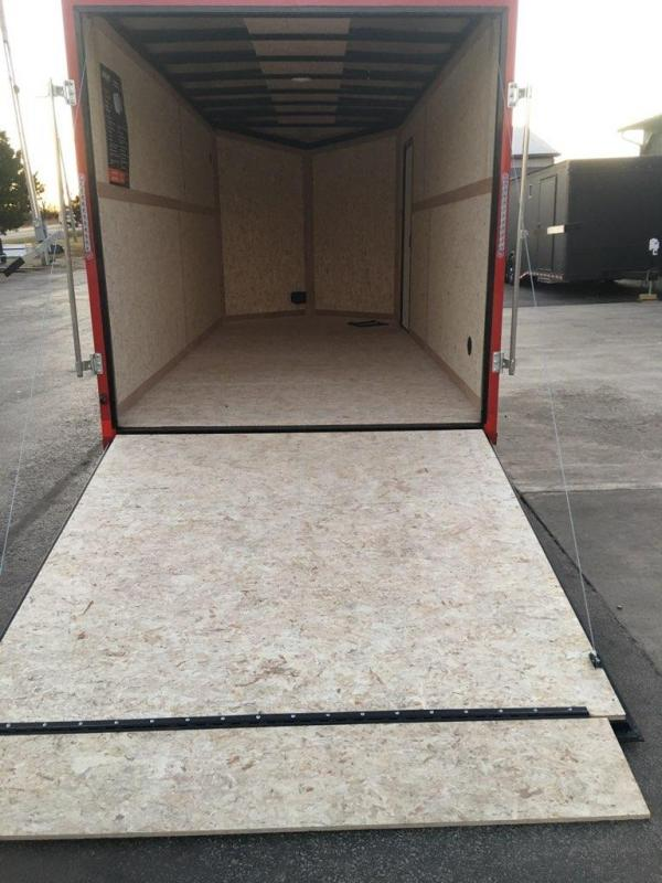 2020 Impact Trailers 7X16 IMPACT TREMOR SILVER/RED Enclosed Cargo Trailer