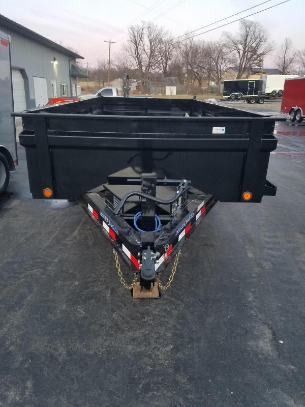 2020 Load Trail 83x16 LOAD TRAIL DUMP MAX STEP BLACK Dump Trailer