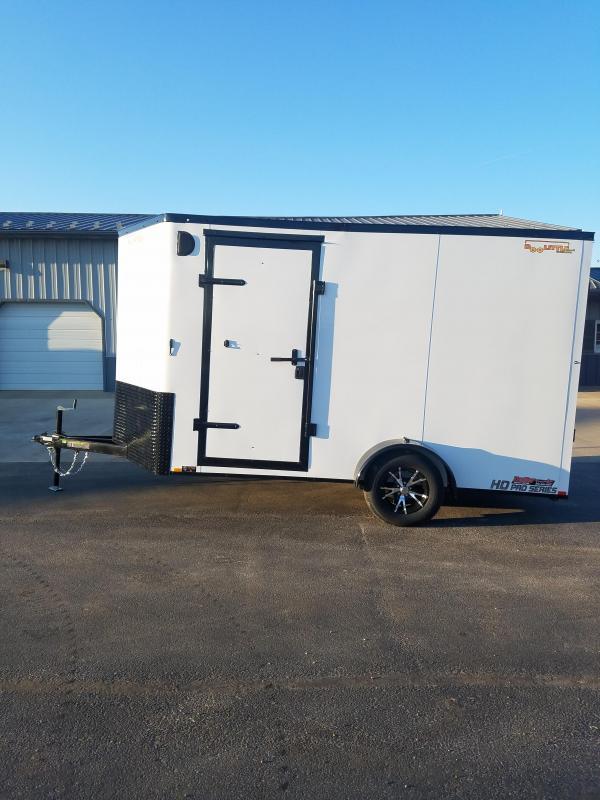 2020 Doolittle Trailer Mfg 7X12 DOOLITTLE CARGO LEFT SIDE SIDE DOOR WHITE Enclosed Cargo Trailer