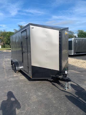 2020 Stealth Trailers 7X16 STEALTH MUSTANG REAR RAMP BLACK OUT PACKAGE Enclosed Cargo Trailer