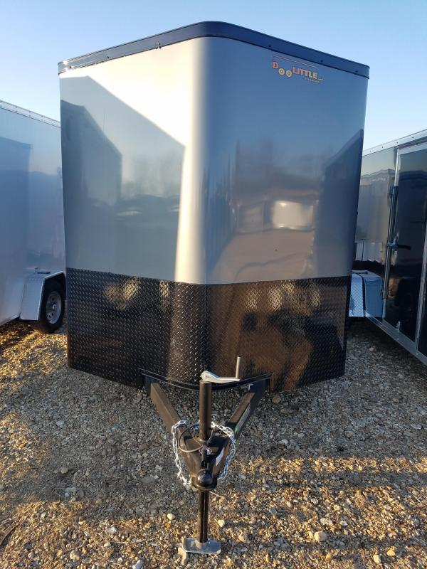 2020 Doolittle Trailer Mfg 7X12 DOOLITTLE CARGO DRIVER SIDE SIDE DOOR GRAY Enclosed Cargo Trailer