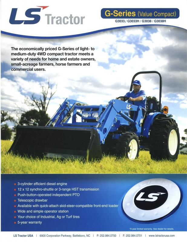 2019 LS Tractor XG3135H 4x4 Compact Tractor