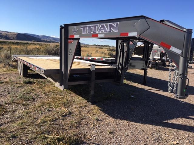 2019 Titan Trailers 14k Gooseneck Flatbed Flatbed Trailer