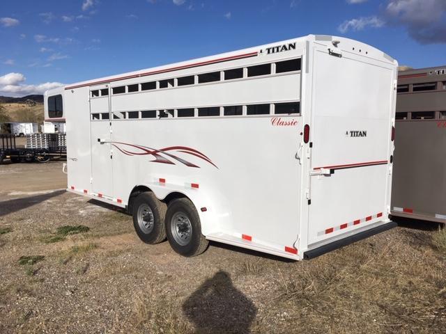 2019 Titan Trailers 20 Classic Stock combo Livestock Trailer