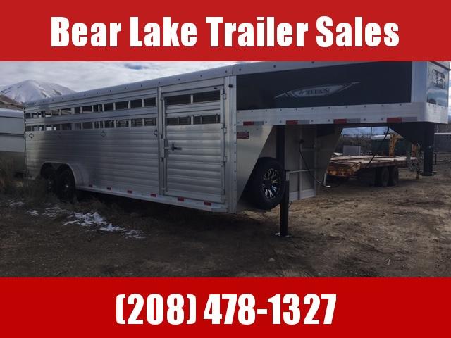 2020 Titan Trailers 24' aluminum Stock Livestock Trailer