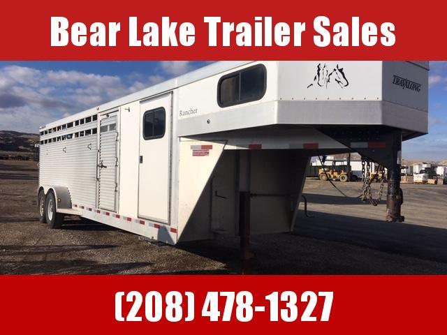 2004 Travalong 24' Aluminum Stock Combo Livestock Trailer