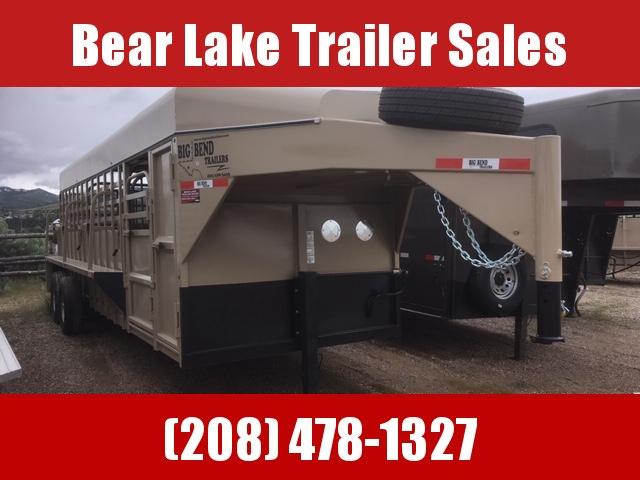 2019 Big Bend 22 Stock Trailer w/ Dog Boxes Livestock Trailer