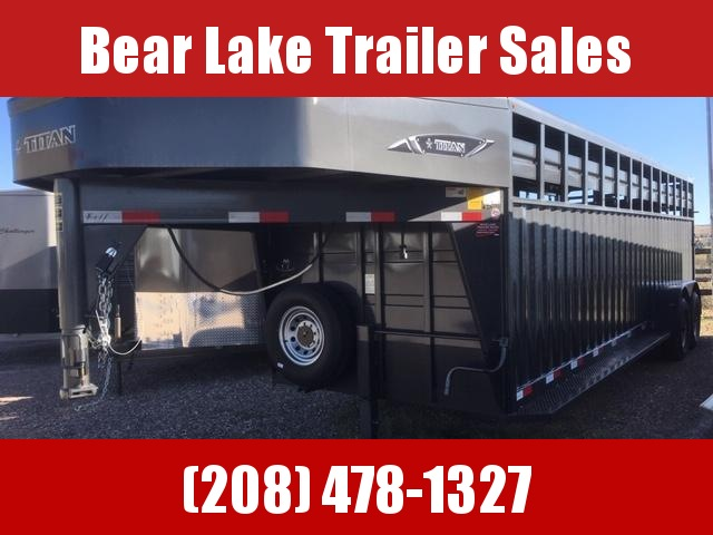 2019 Titan Trailers 24 Rancher Stock Livestock Trailer