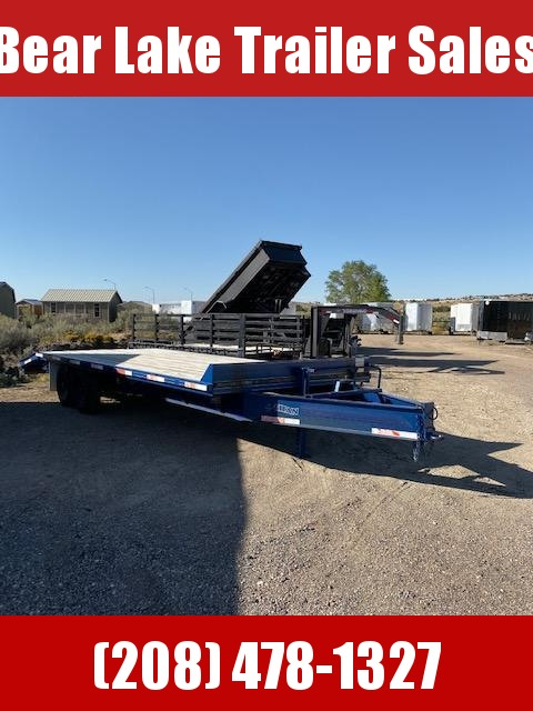 2001 Titan Pintle Hitch Deckover Flatbed Trailer