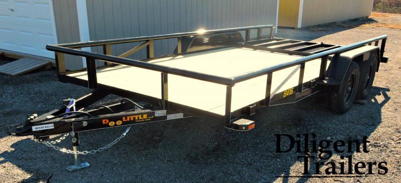 "2019 Doolittle Trailer 84"" x16' Tandem Axle 7K Utility Trailer"
