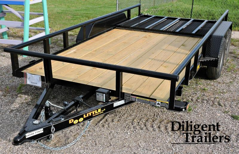 "2019 Doolittle Trailer 77"" x14' Tandem Axle Utility Trailer"