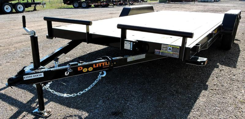 "2019 Doolittle Trailer 84"" x18' Tandem Axle 7K Car Hauler Trailer"