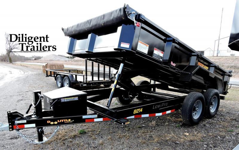 "2020 Doolittle Trailer Mfg 82"" x14' Tandem Axle 14K Master Dump Trailer"