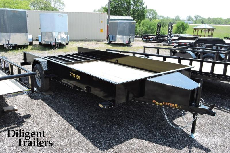 "2020 Doolittle Trailer Mfg 77"" x14' Steel Sided Single Axle 3.5K Utility Trailer"