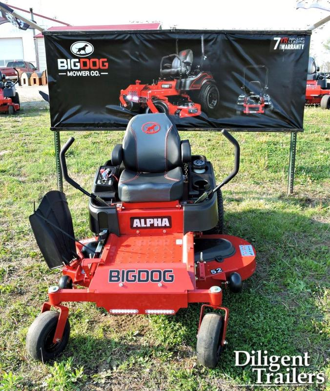 "2020 Big Dog Mower Co Alpha 52"" Zero Turn Lawn Mower"