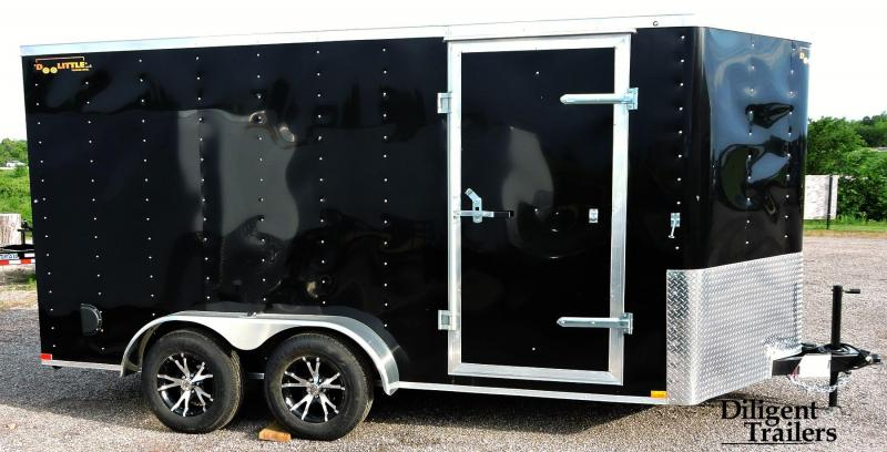 2019 Doolittle Trailer 7'x14' Tandem Axle 7K Enclosed Cargo Trailer