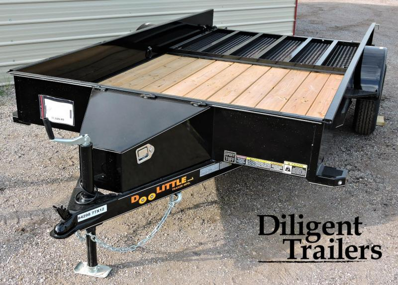 "2019 Doolittle Trailer 77"" x12' SS Single Axle 3.5K Utility Trailer"
