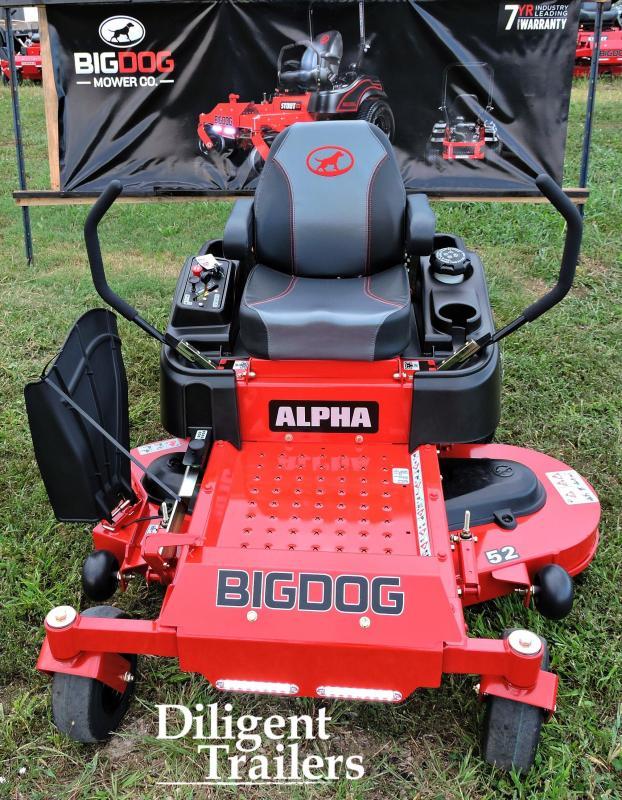 """2019 Big Dog Zero Turn Lawn Mower Alpha 52"""""""