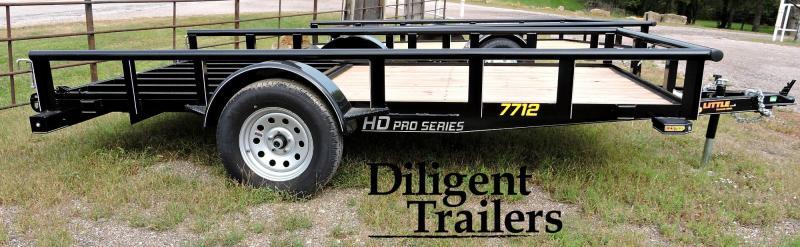 "2020 Doolittle Trailer Mfg 77"" x12' Single Axle 3.5K Utility Trailer"