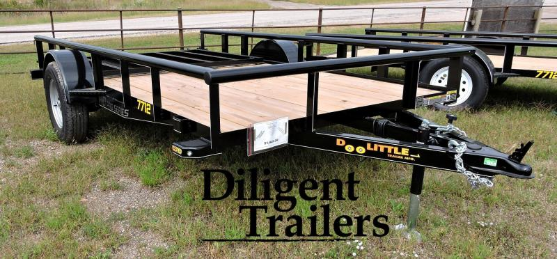 "2020 Doolittle Trailer Mfg 77"" x12' Single Axle 3.5K Utility Trailer"