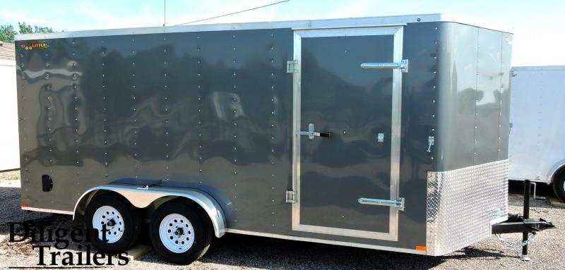 2019 Doolittle Trailer 7'x16' Tandem Axle 7K Enclosed Cargo Trailer